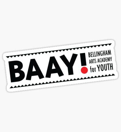 BAAY (Black) Sticker