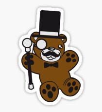 sir mr gentlemen cylinder stock monokel glasses nobility rich funny hat sweet cute comic bear taddy Sticker