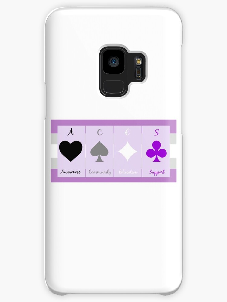 Ace Symbols On Gray Asexual Flag Cases Skins For Samsung Galaxy