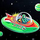 X-15 FLYING SAUCER by ward-art-studio