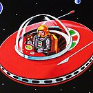 RED FLYING SAUCER by ward-art-studio