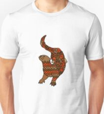 Otter Pattern Filled Outline T-Shirt