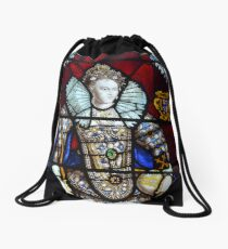 Queen Elizabeth I Stained Glass  Drawstring Bag