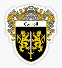Carroll Coat of Arms/Family Crest Sticker