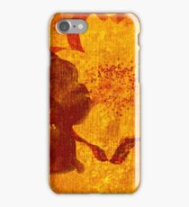 Cool, unique red yellow asian style art design iPhone Case/Skin