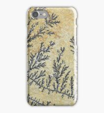 Dendritic minerals  of iron- and manganese oxides iPhone Case/Skin