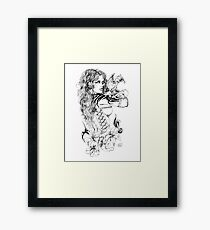 Dragon Teacher Ink Framed Print