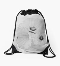 Lavatera Flowers In Tea Cup - Still Life Drawstring Bag