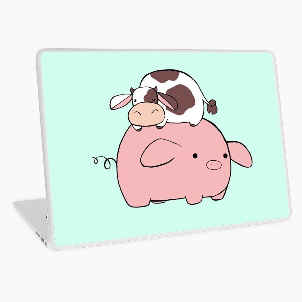 Große Schweinchen Kleine Kuh Laptop Folie