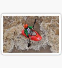Kayaking Through the Rapids Sticker