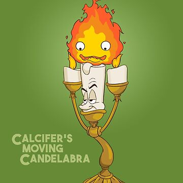 Calcifer's Moving Candelabra w/ Title by icecoldtea