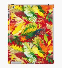 Fabric Art, Pattern, Bold Bright Colorful Leafs iPad Case/Skin