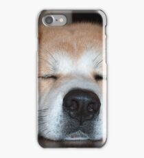 akita sleeping iPhone Case/Skin