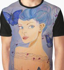 Blue Half Note Graphic T-Shirt
