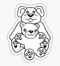 papa mama baby boy child cute sweet cartoon comic cuddle few team Sticker