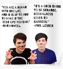 Dan and Phil Quotes Poster