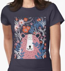 Bear Garden Womens Fitted T-Shirt