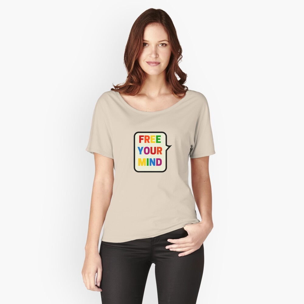 FREE YOUR MIND BUBBLE Relaxed Fit T-Shirt