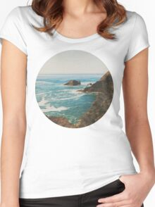 Oregon Coast Women's Fitted Scoop T-Shirt