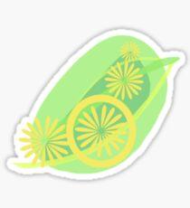 Lemon Zest Subtle Splash Sticker