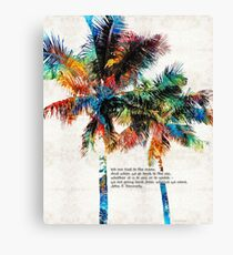 Colorful Palm Trees - Returning Home - By Sharon Cummings Canvas Print