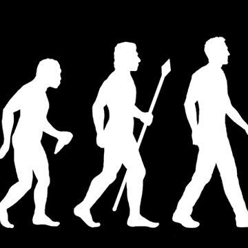 Evolution des Mannes Radfahren von BeyondEvolved