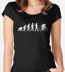 Evolution Of Man Cycling Women's Fitted Scoop T-Shirt
