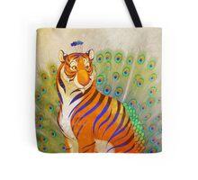 Peacock Tiger Tote Bag