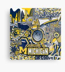 Michigan Collage Metal Print
