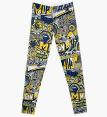Michigan Collage Leggings