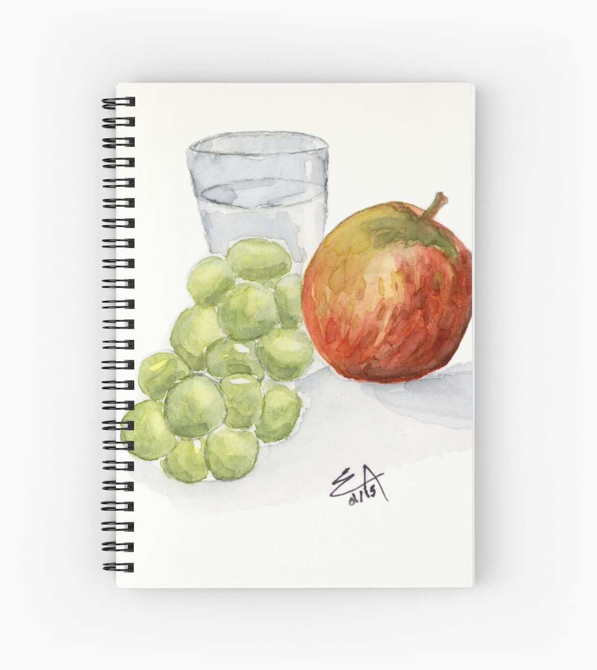 """Red Apple, Green Grapes Painting Art Print Fine Art Print"
