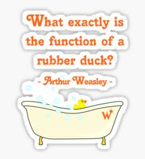 What exactly is the function of a rubber duck? Sticker