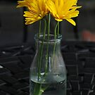 Town square table flowers by April White