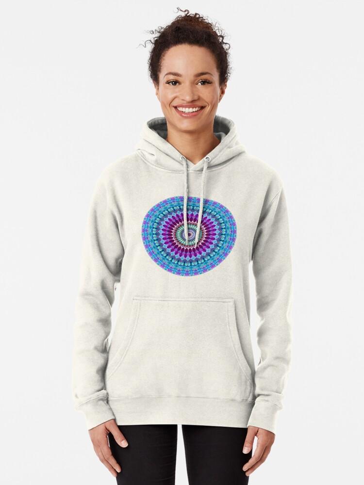 Alternate view of Geometric Mandala Pullover Hoodie