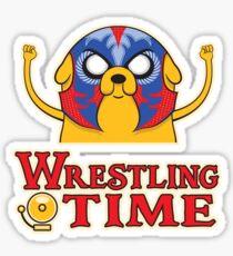 Wrestling Time Sticker
