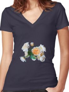 English roses Women's Fitted V-Neck T-Shirt