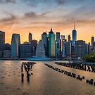 Sunsets from Brooklyn Are the Best by Randy  LeMoine
