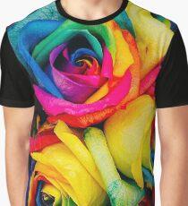 Rose Rainbow Graphic T-Shirt