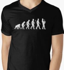 Funny Saxophone Evolution Of Man Men's V-Neck T-Shirt