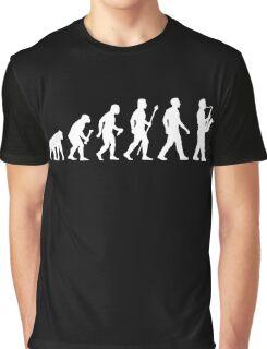Funny Saxophone Evolution Of Man Graphic T-Shirt