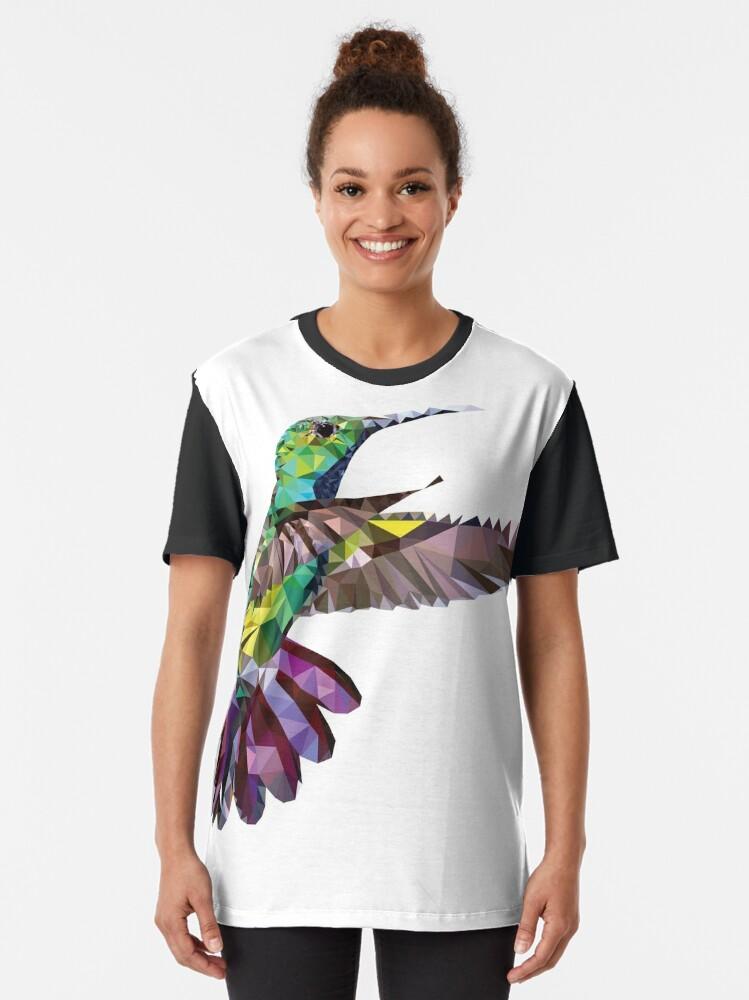 Alternate view of Geometric Hummingbird Graphic T-Shirt