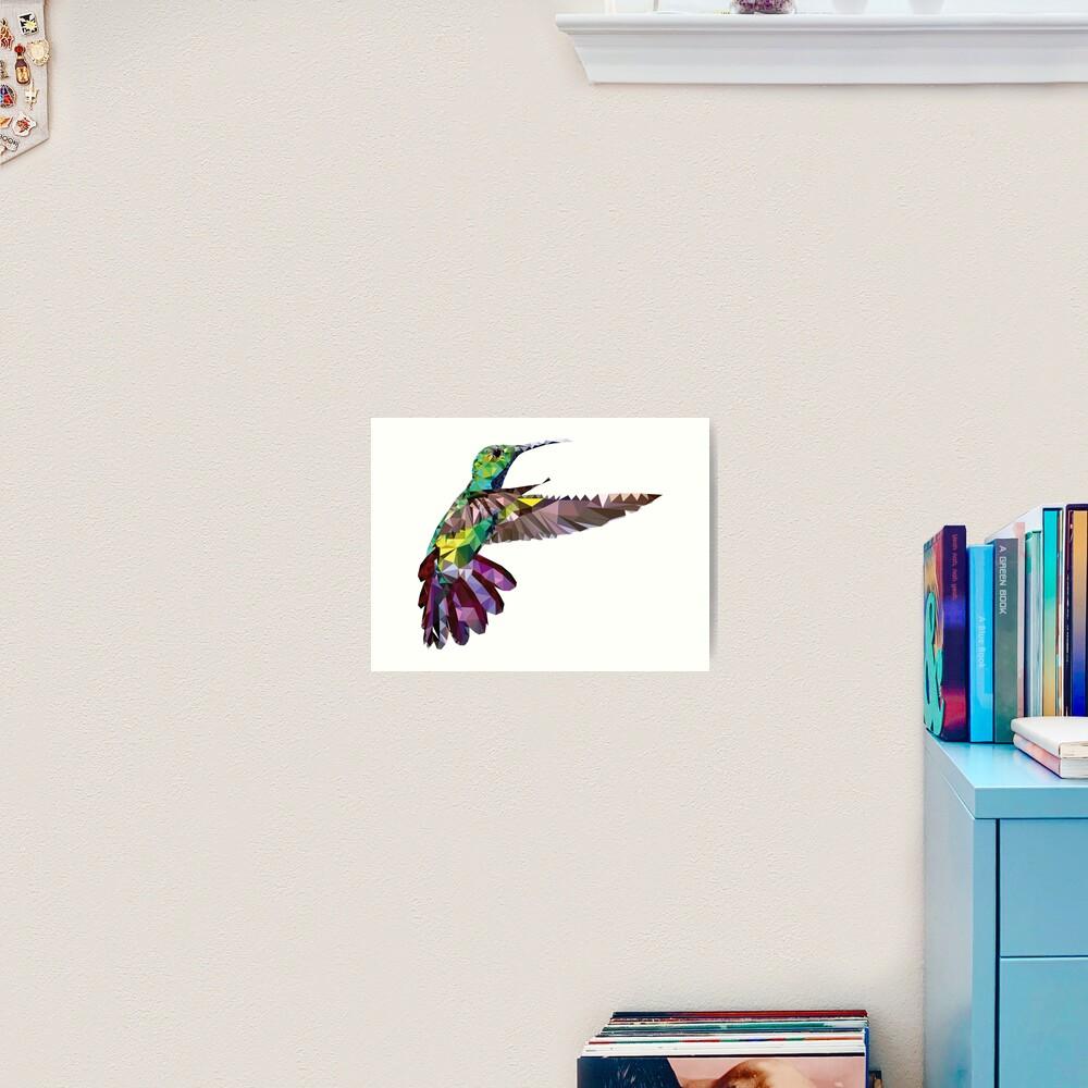 Geometric Hummingbird Art Print
