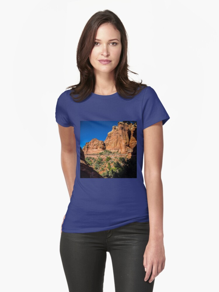 Backside of Cathedral Rock Trail Womens T-Shirt Front