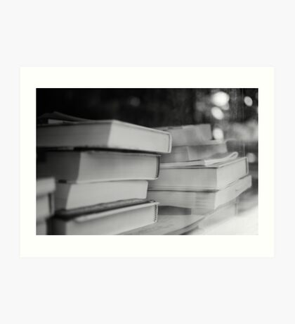 Booked Erudition Art Print