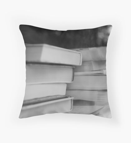 Booked Erudition Throw Pillow