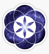 Pinwheel Blue Hue | Sacred Geometry Flower of Life Sticker Sticker