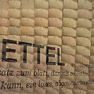 Slips of paper (Zettel) by heinrich