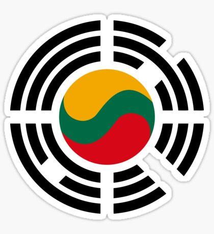 Korean Lithuanian Multinational Patriot Flag Series Sticker
