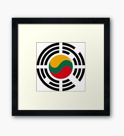 Korean Lithuanian Multinational Patriot Flag Series Framed Print