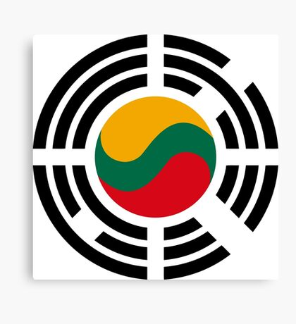Korean Lithuanian Multinational Patriot Flag Series Canvas Print